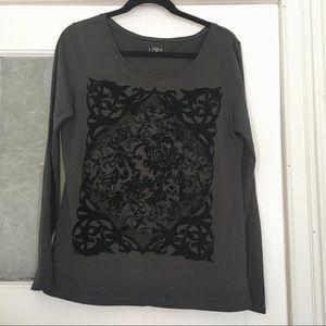 LOFT cotton long sleeve shirt